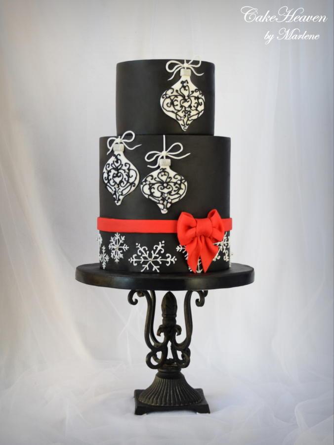 Elegant Christmas Cakes  Elegant Christmas Cake cake by CakeHeaven by Marlene