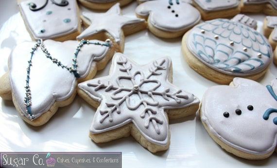 Elegant Christmas Cookies  Items similar to Elegant Christmas Cookies on Etsy