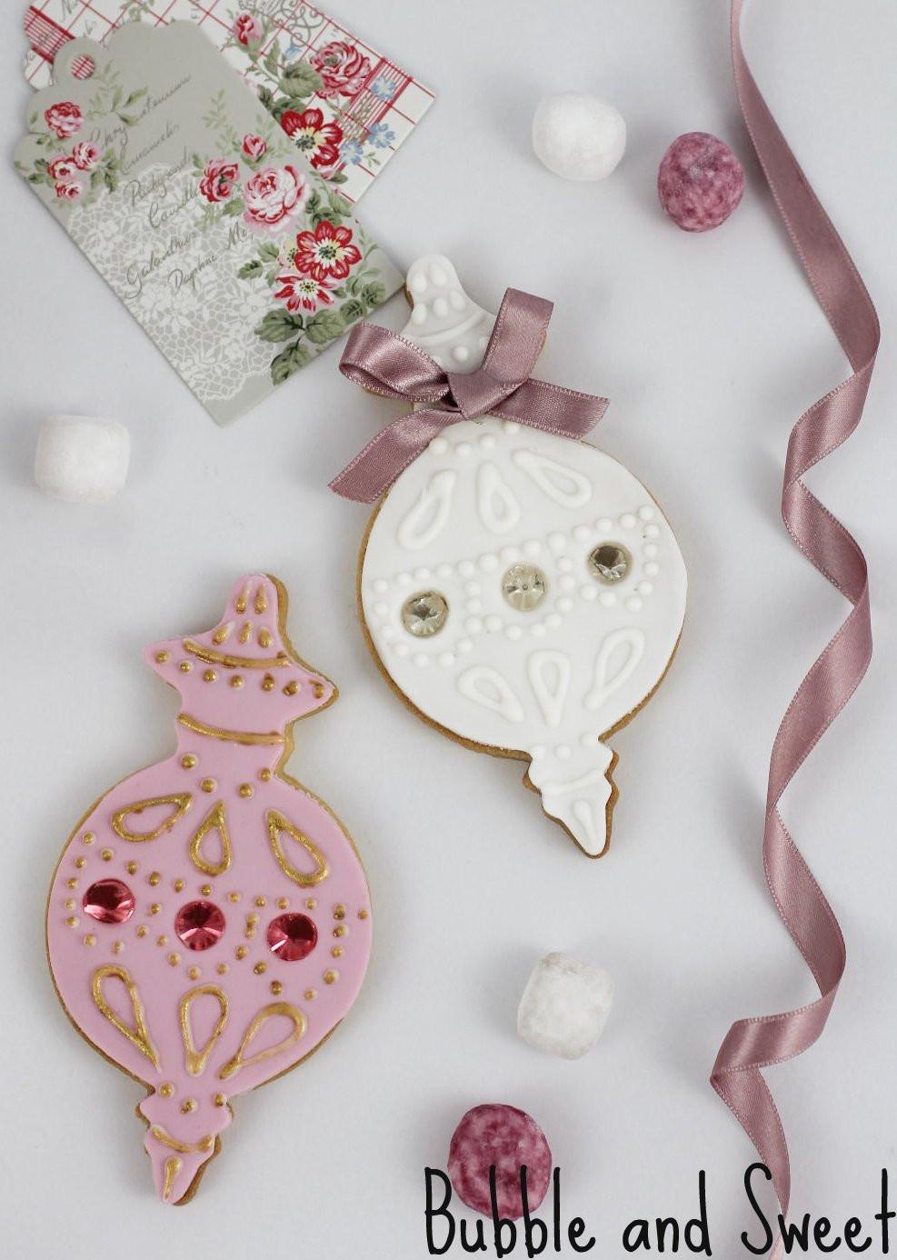 Elegant Christmas Cookies  Bubble and Sweet Elegant Ornament Cookies