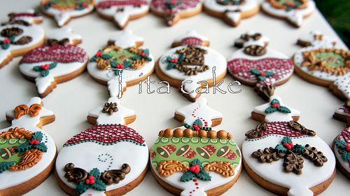 Elegant Christmas Cookies  Pinterest • The world's catalog of ideas
