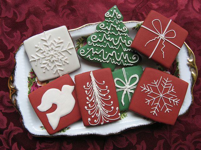 Elegant Christmas Cookies  Simple and elegant Christmas cookies by Unique Cookie