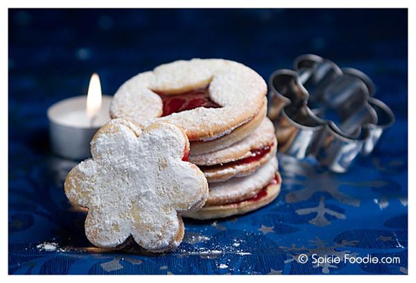 European Christmas Cookies  Sunday Snapshots Czech Linzer Cookies – Spicie Foo