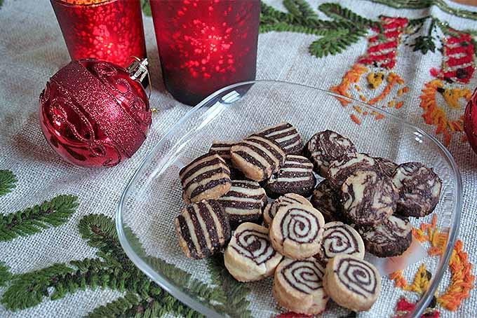 European Christmas Cookies  Black and White European Christmas Cookies