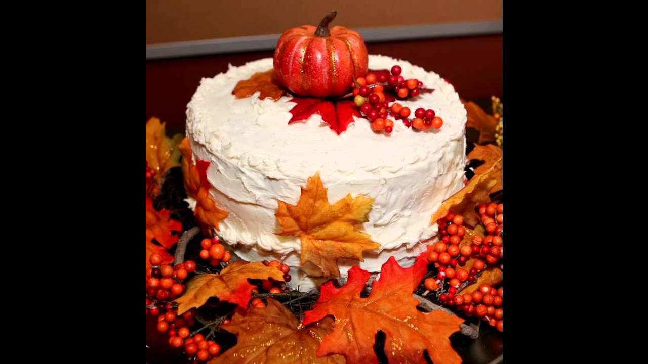 Fall Birthday Cake  Fall cake decorating ideas