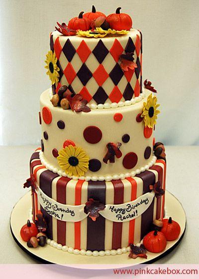Fall Birthday Cake  1000 ideas about Autumn Cake on Pinterest