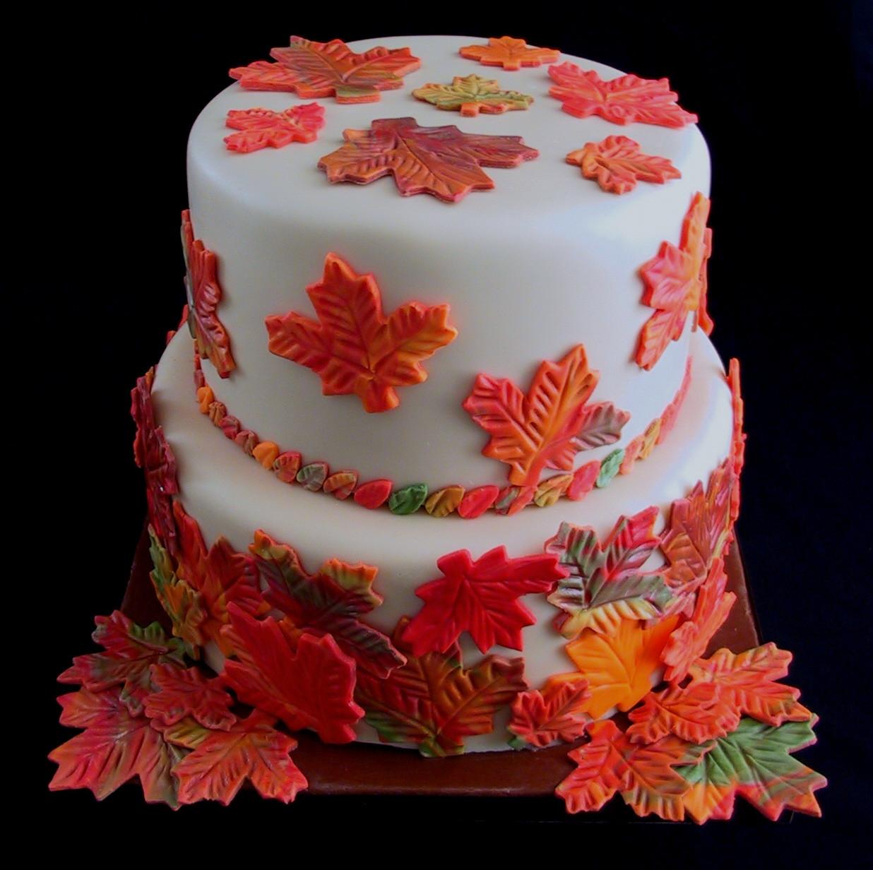 Fall Birthday Cake  fall