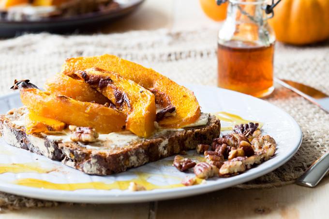 Fall Breakfast Recipe  Roasted Pumpkin on Toast a delicious autumn breakfast