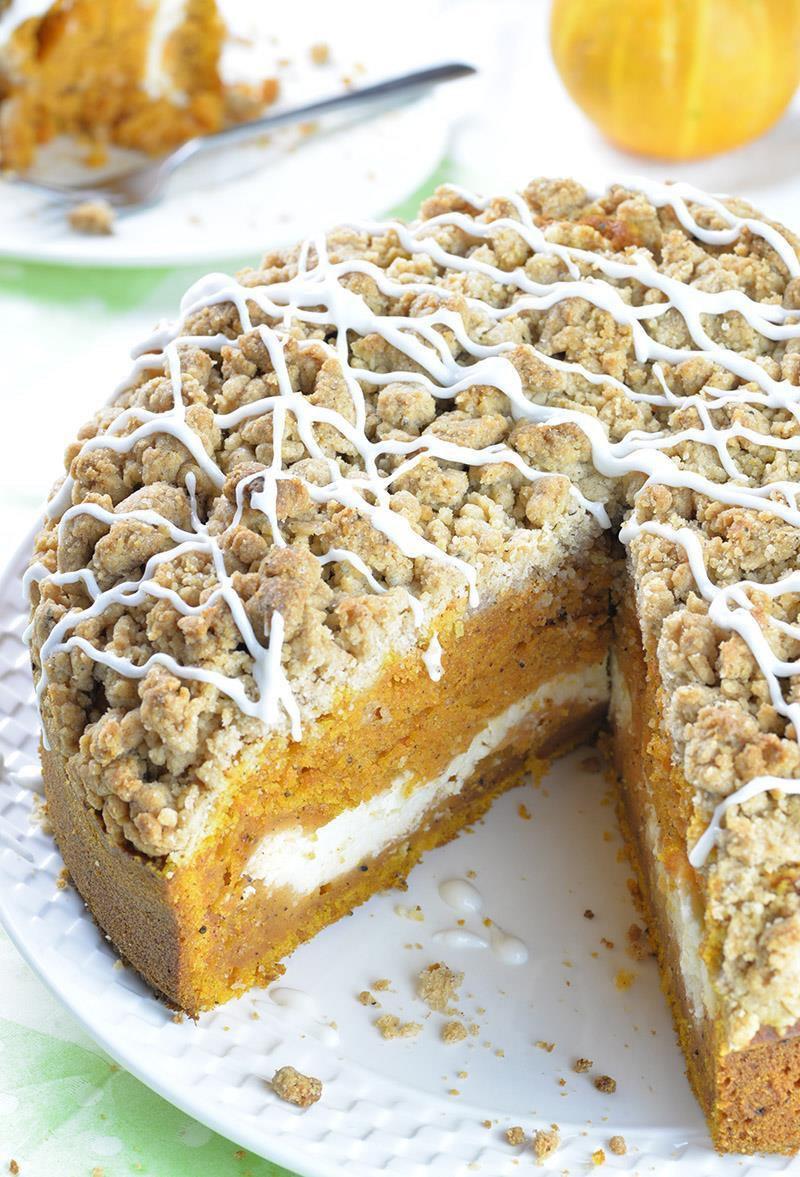 Fall Cake Recipes  Pumpkin Coffee Cake