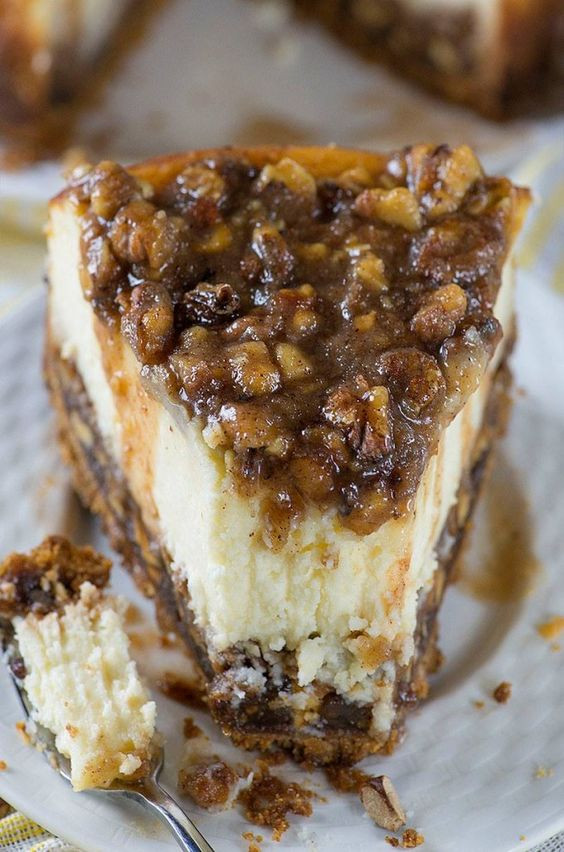 Fall Cake Recipes  Pecan Pie Cheesecake ese are the BEST Fall Dessert