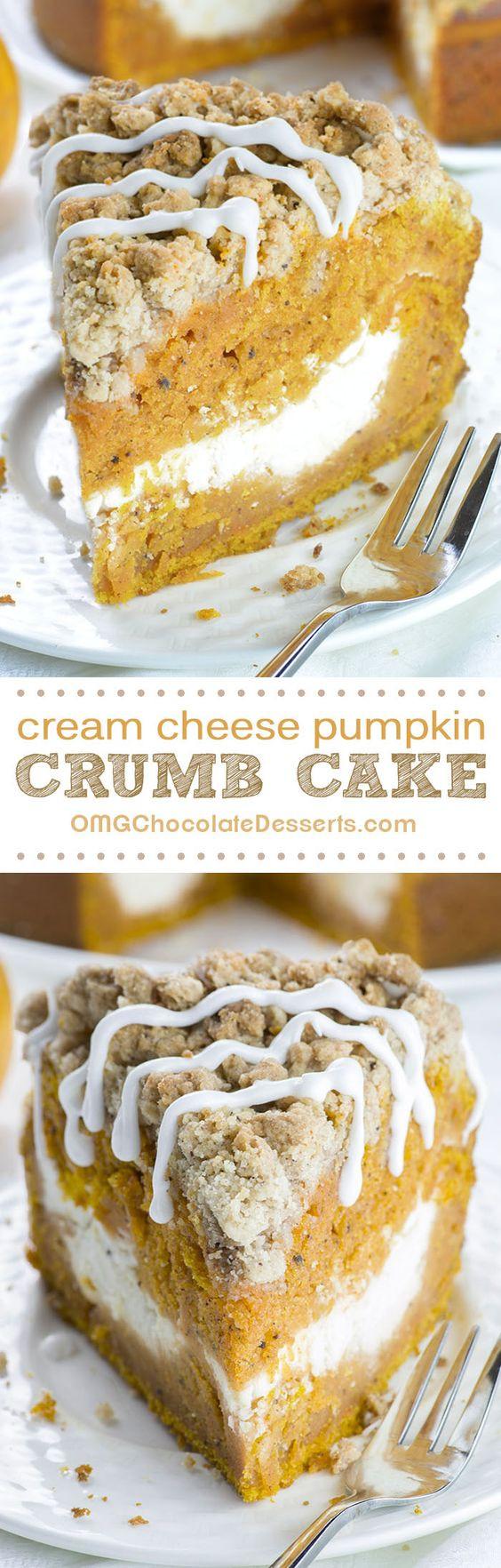 Fall Cake Recipes  Pumpkin coffee cakes Coffee cake and Fall recipes on