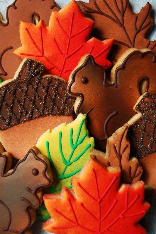 Fall Cut Out Cookies  cut out cookies Dessert Pinterest