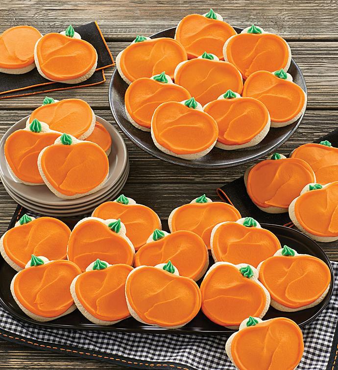 Fall Cut Out Cookies  Buttercream Frosted Pumpkin Cutout Cookies