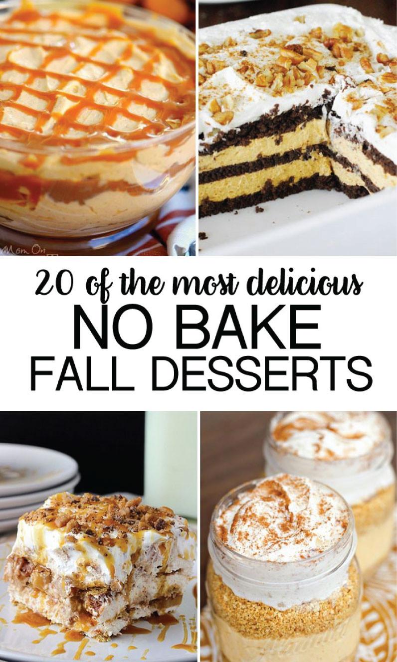 Fall Dessert Recipes  No Bake Fall Desserts