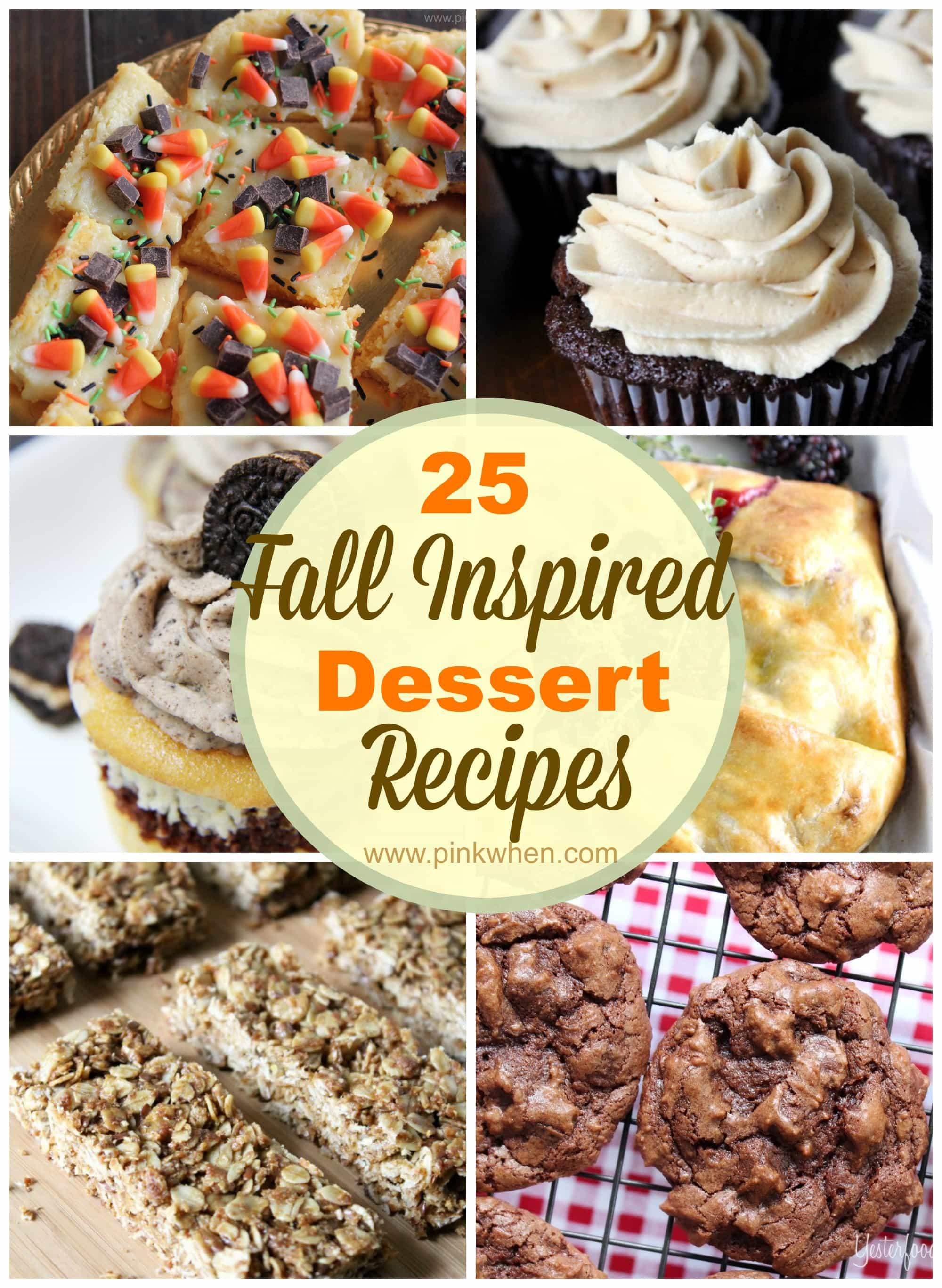 Fall Dessert Recipes  diy Sunday Showcase 9 27 & FAVS PinkWhen