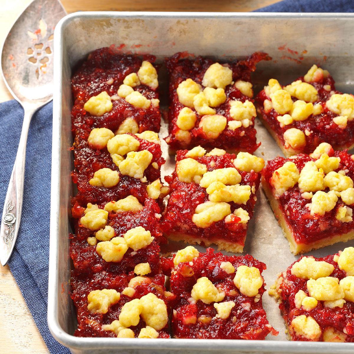 Fall Desserts For A Crowd  Cranberry Orange Bars Recipe