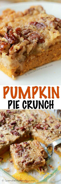 Fall Desserts For A Crowd  Pumpkin Pie Crunch is the easiest way to serve pumpkin pie