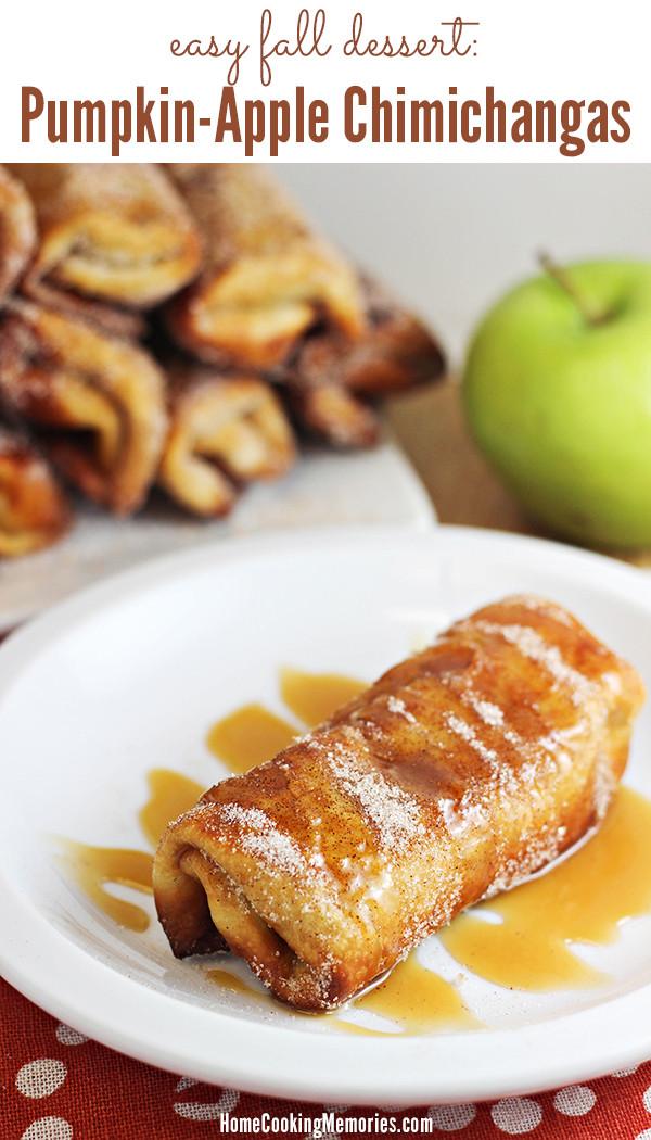 Fall Desserts Recipes  Easy Fall Dessert Pumpkin Apple Chimichanga Recipe Home