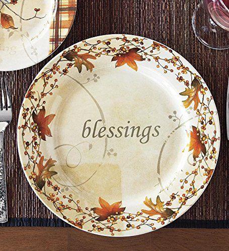Fall Dinner Plates  Amazon Wind & Weather Autumn Dinner Plate Kitchen