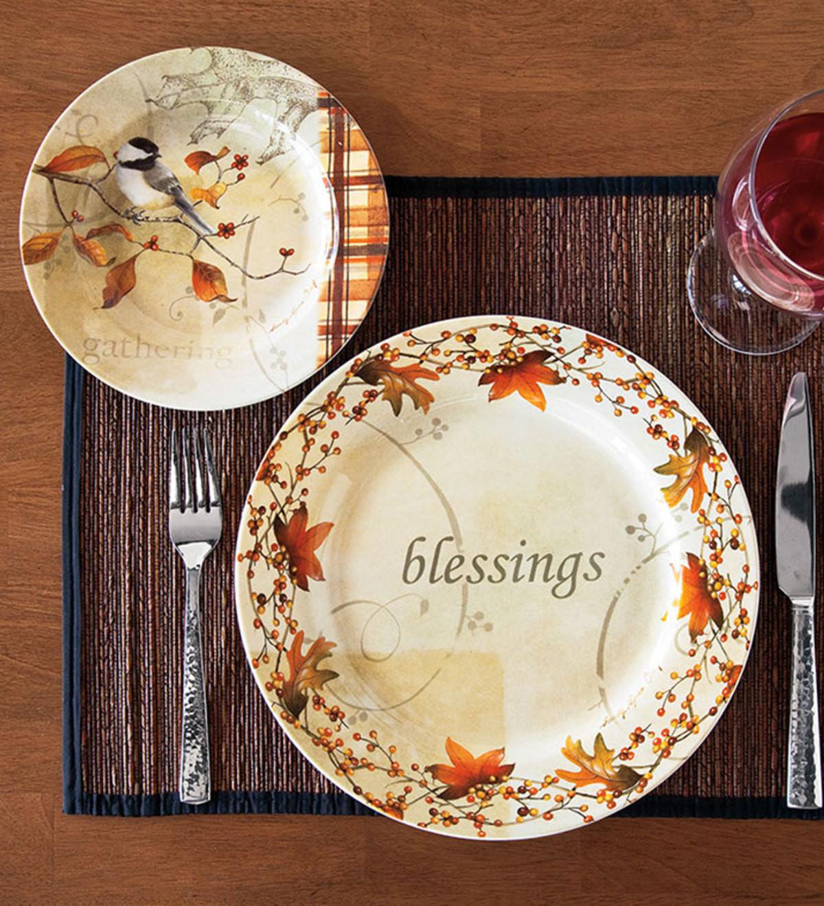 Fall Dinner Plates  Autumn Dinner Plate and Dessert Plates