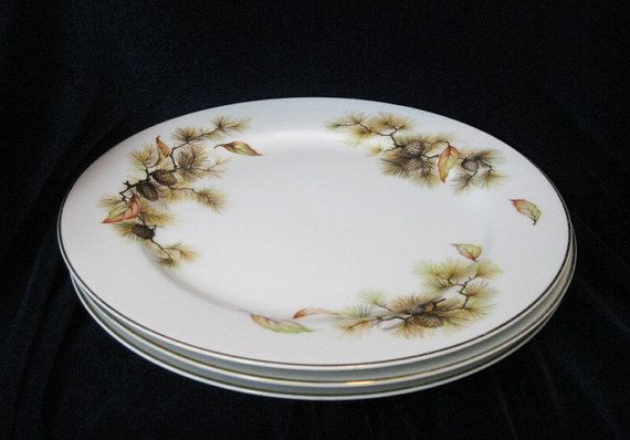 """Fall Dinner Plates  Fuji China Made In Japan """"Autumn"""" Dinner Plates 3"""