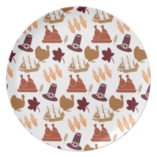 Fall Dinner Plates  Thanksgiving Fall Autumn Harvest Pattern Dinner Plates