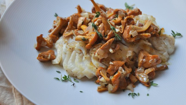 Fall Fish Recipes  Pan Roasted Cod with Chanterelles Fall is Here