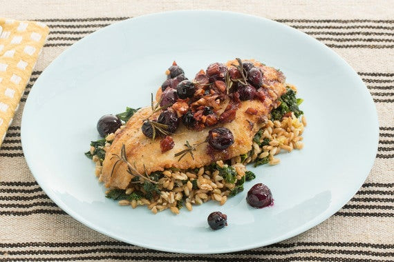 Fall Fish Recipes  Recipe Crispy Catfish with Kale Farro Salad & Warm Grape