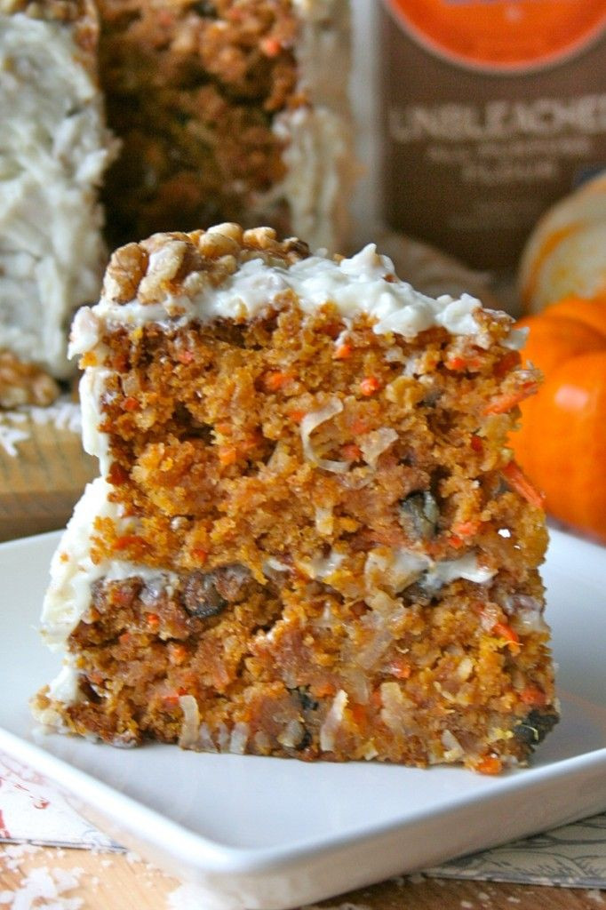 Fall Flavors For Desserts  Pumpkin Carrot Cake This incredibly moist and flavorful