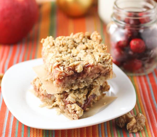 Fall Flavors For Desserts  Cranberry Apple Butter Bars citronlimette