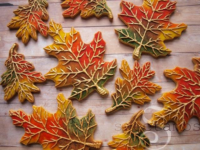 Fall Leaf Sugar Cookies  Fall Leaves Cookies by SweetAmbsSweetAmbs