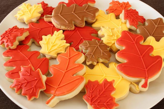 Fall Leaf Sugar Cookies  Fall Sugar Cookies