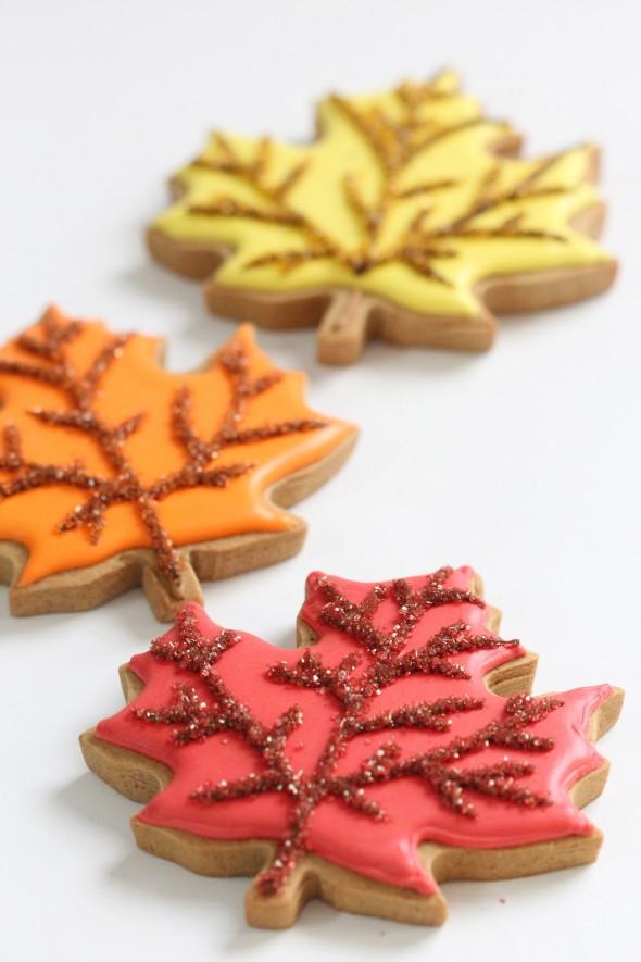 Fall Leaf Sugar Cookies  22 Fall Favorite Cookie and Cupcake Recipes & Tutorials