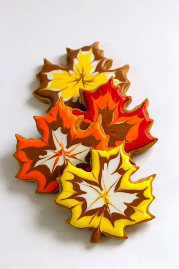 Fall Leaf Sugar Cookies  Fall Favorite Cupcake & Cookie Ideas