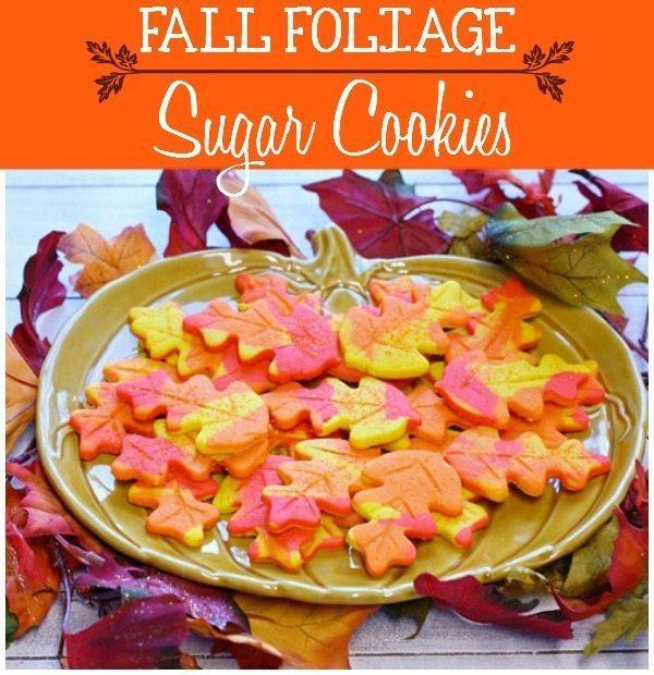 Fall Leaf Sugar Cookies  Fall Leaf Sugar Cookies Food Folks and Fun