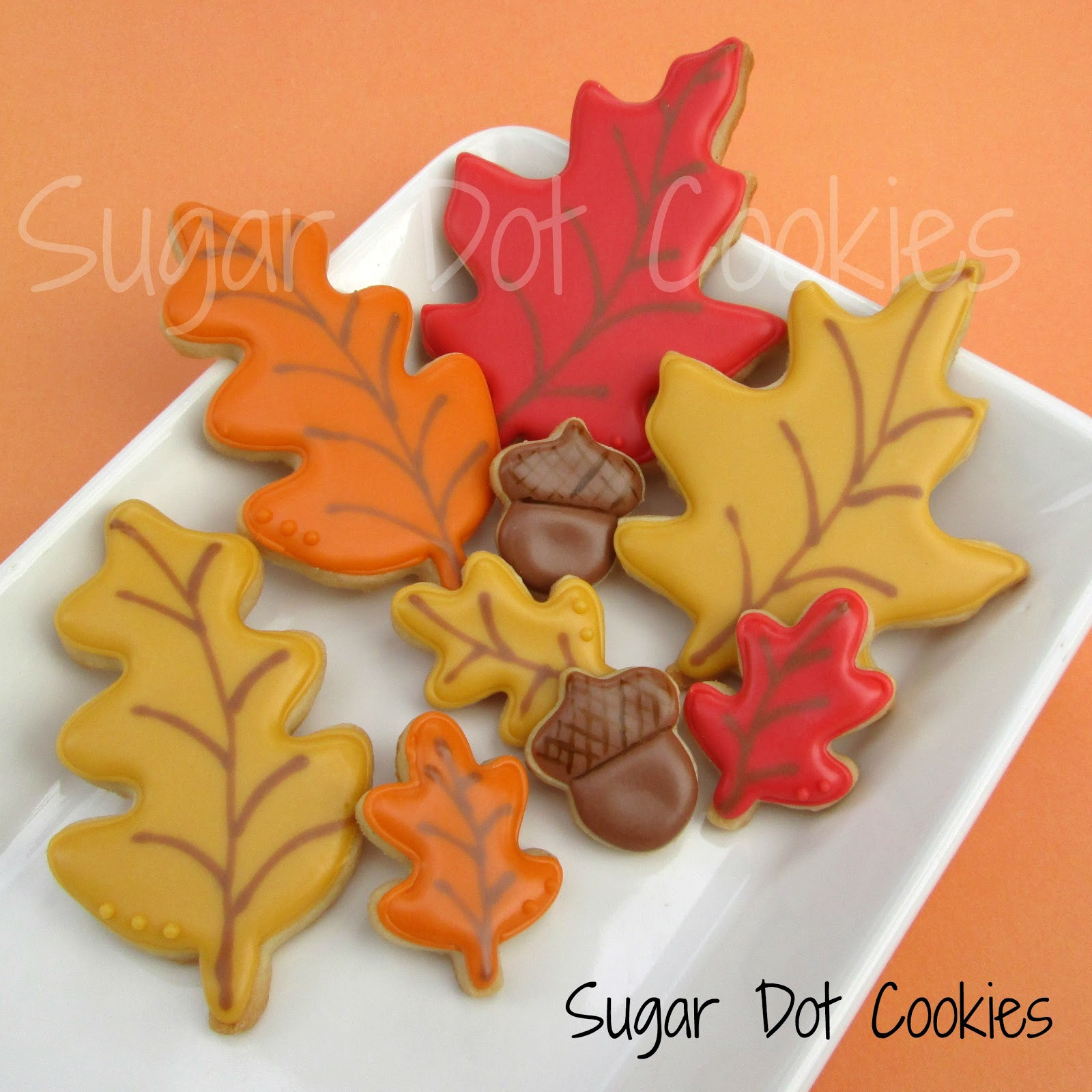 Fall Leaf Sugar Cookies  I m glad to be part of the cookie world