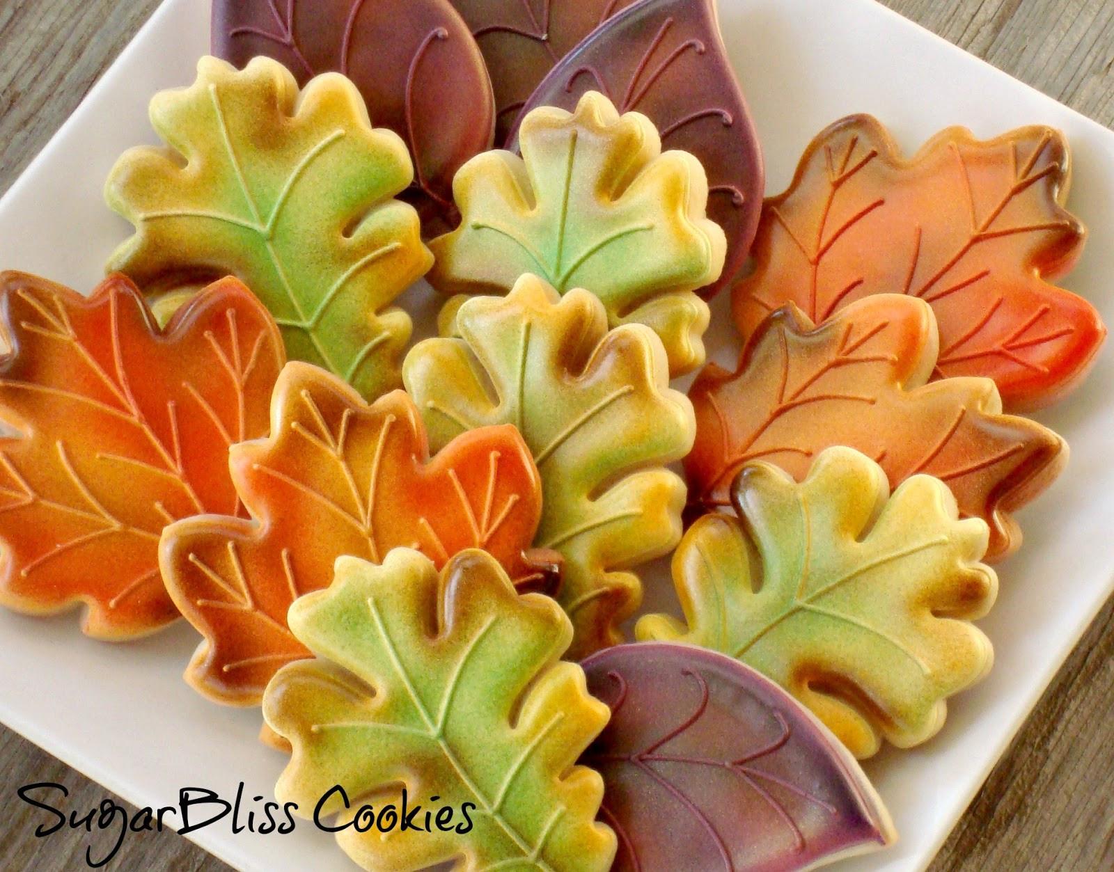 Fall Leaf Sugar Cookies  Freshly fallen iced Autumnal biscuits Food Heaven