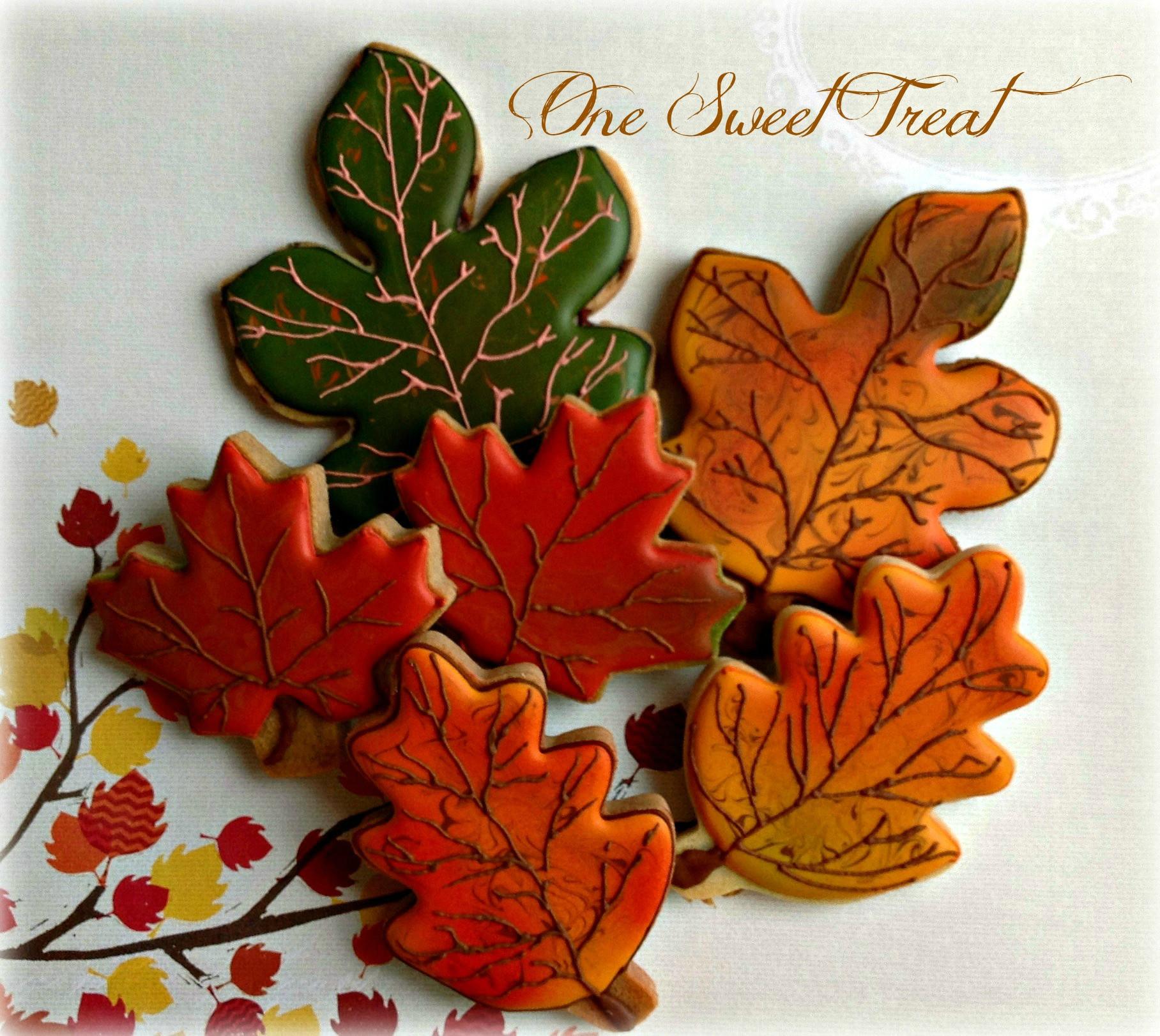 Fall Leaf Sugar Cookies  e Sweet Treat Fall Cookies 2014