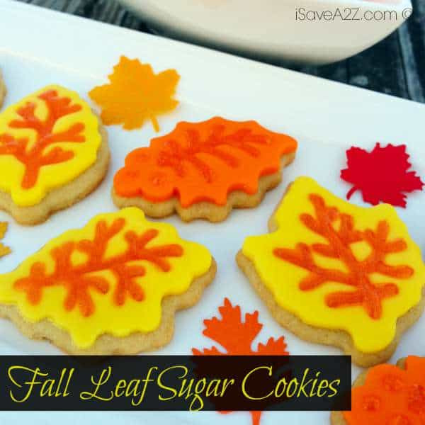 Fall Leaf Sugar Cookies  Fall Leaf Sugar Cookies iSaveA2Z