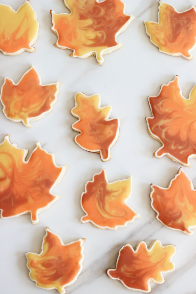 Fall Leaf Sugar Cookies  Cooking Flooding with Sugar Cookie Cutouts The Gold
