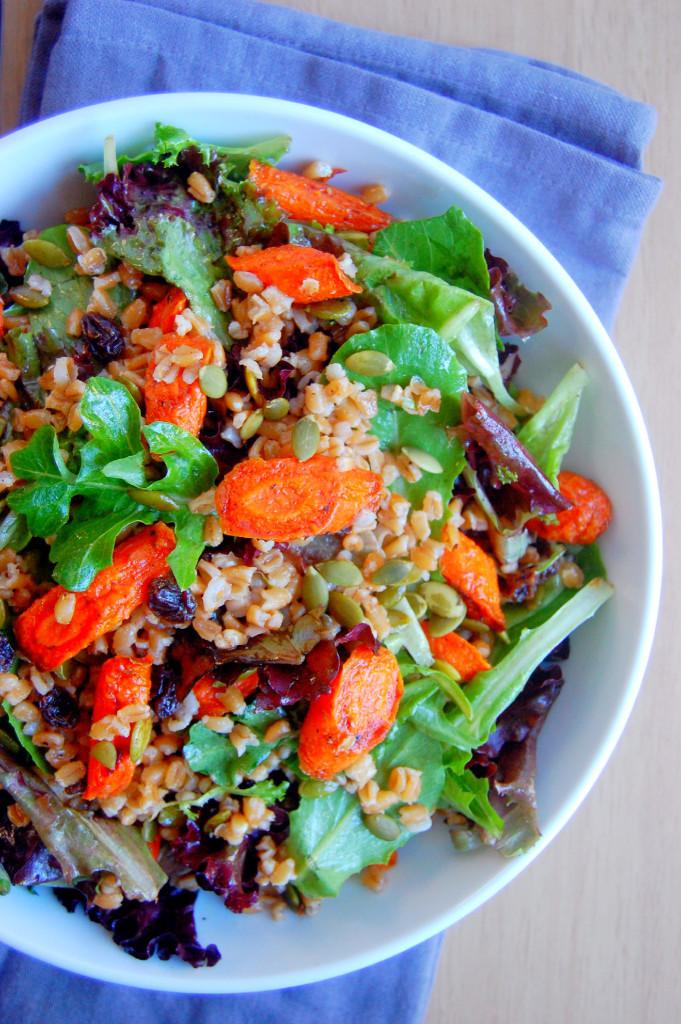 Fall Main Dishes  Cinnamon Roasted Carrot and Farro Salad