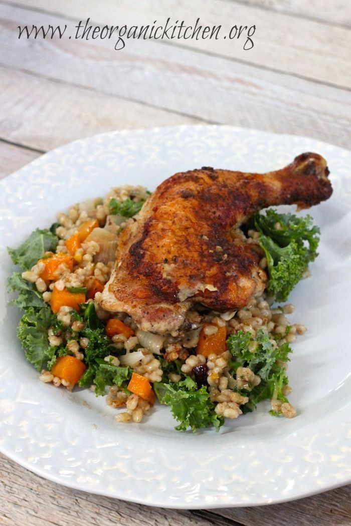 Fall Main Dishes  Autumn Skillet Chicken with Butternut Squash and Barley