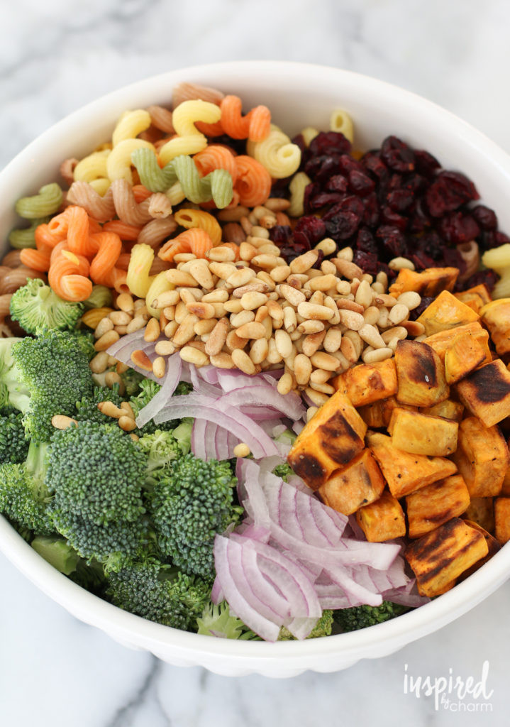 Fall Pasta Salad  Fall Harvest Pasta Salad Inspired by Charm