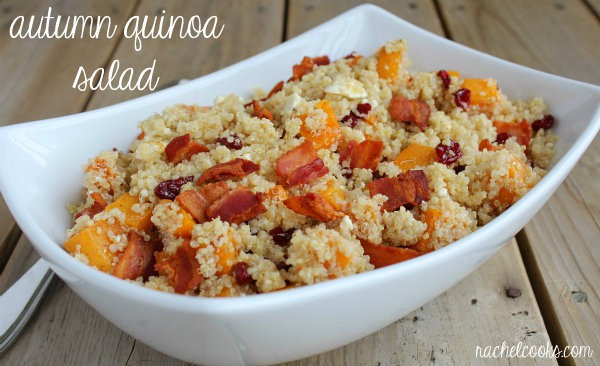 Fall Quinoa Salad  Autumn Quinoa Salad with Maple Mustard Vinaigrette
