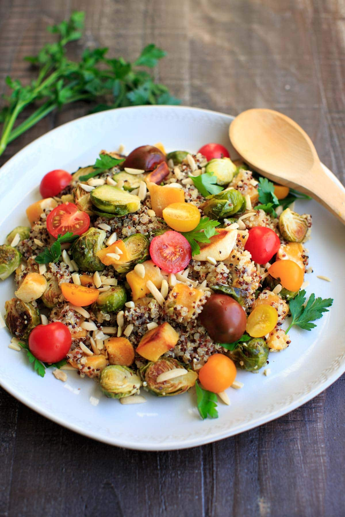 Fall Quinoa Salad  Fall Quinoa Salad with Squash and Brussels Sprouts Trial