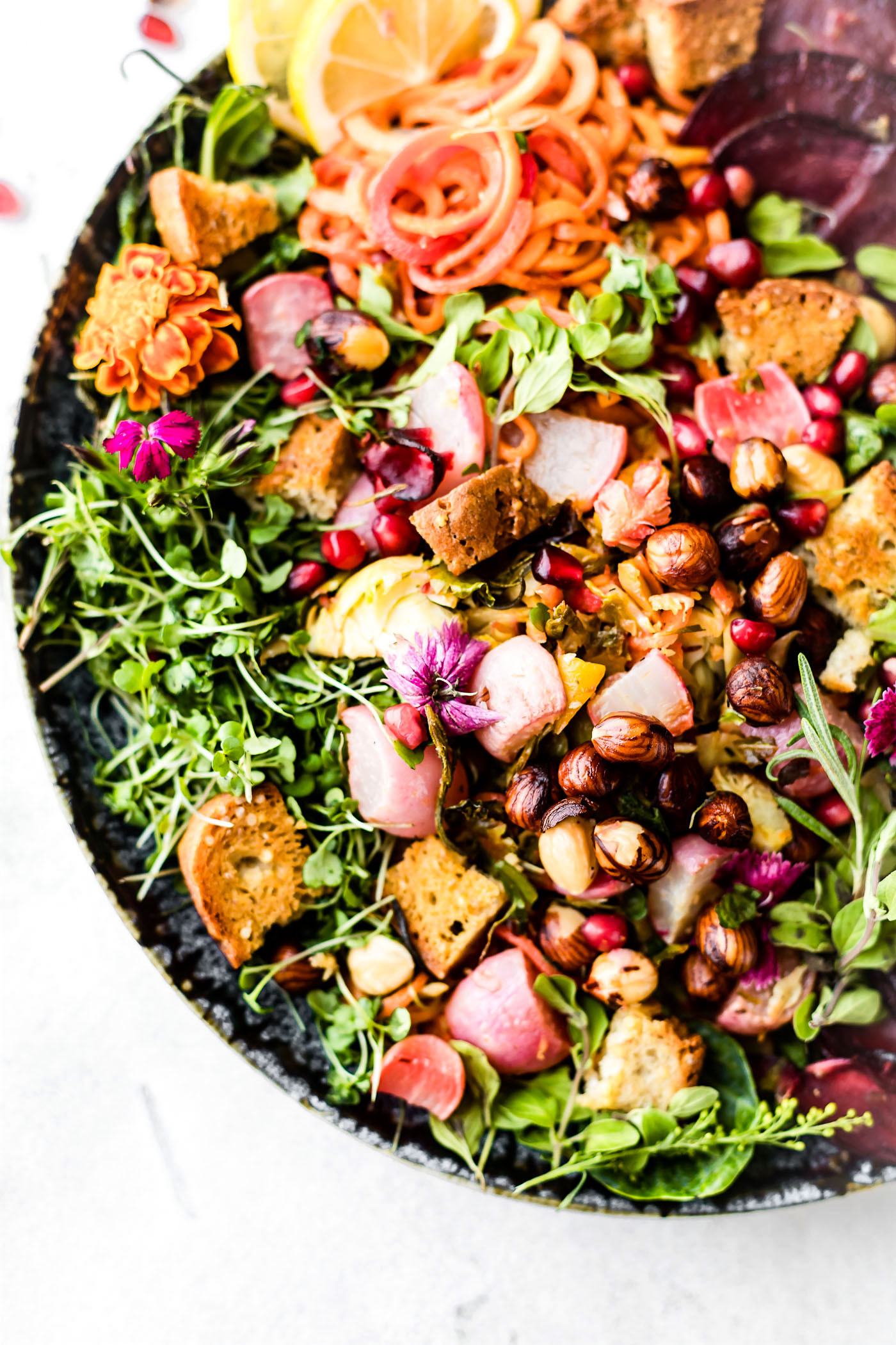 Fall Roasted Vegetables  Roasted Ve able Panzanella Fall Salad