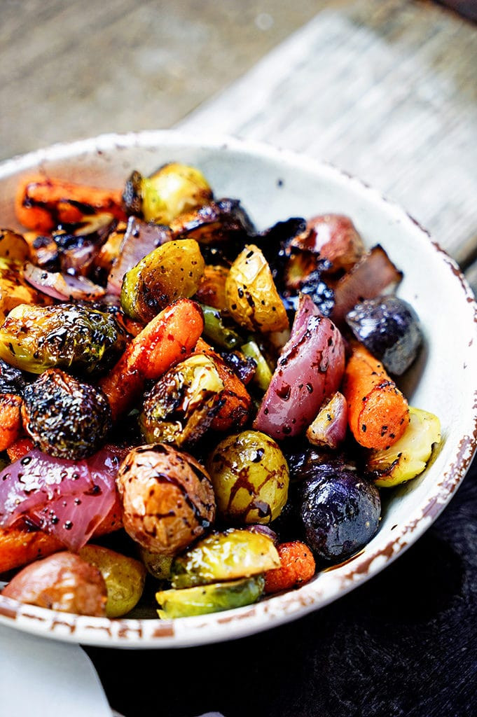Fall Roasted Vegetables  Easy Roasted Ve ables with Honey and Balsamic Syrup