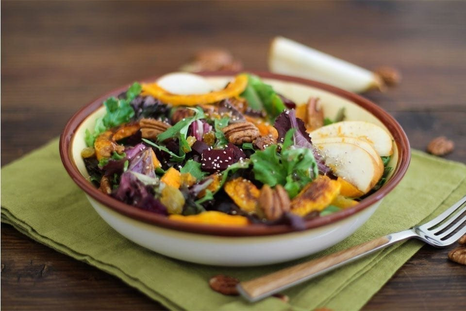 Fall Roasted Vegetables  Roasted Fall Ve able Salad with Maple Orange Cinnamon