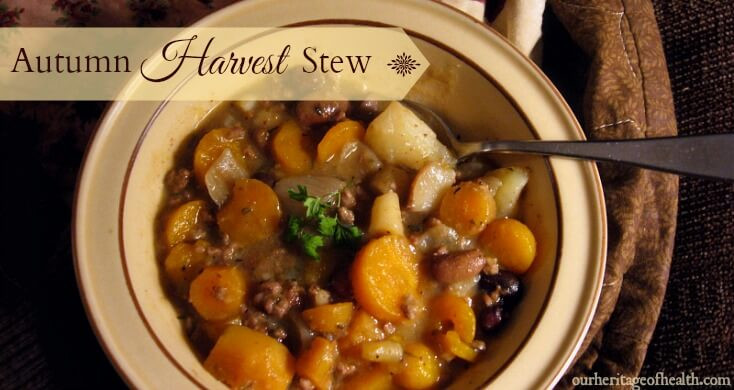 Fall Stew Recipes  Autumn Harvest Stew Our Heritage of Health