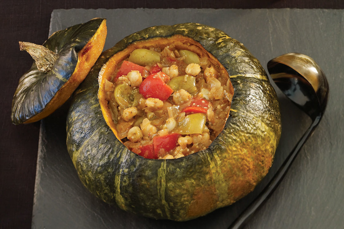 Fall Stew Recipes  Spicy Fall Stew Baked in a Pumpkin Recipe Ve arian Times