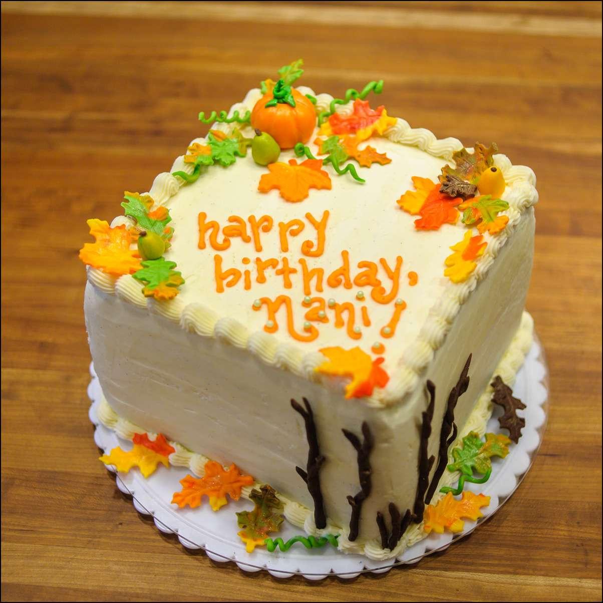Fall Themed Birthday Cake  Autumn Themed Cake